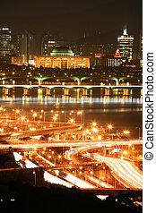 Beautiful night view of Seoul in South Korea