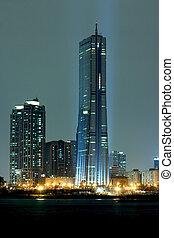 Beautiful night view of the Han River in Seoul International...