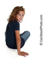 beautiful nine year old - Beautiful nine year old caucasian...