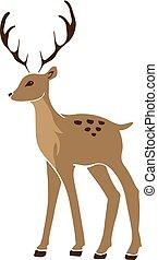 Beautiful noble sketch deer are ruminant mammal in family...