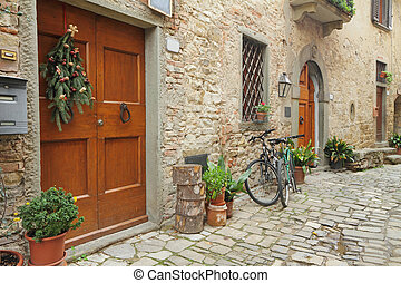 beautiful nook in village Montefioralle near Greve in...