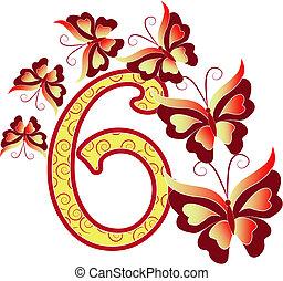 Beautiful number six