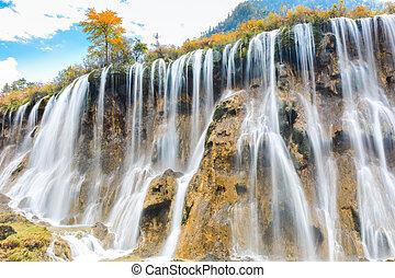 beautiful nuorilang waterfall in autumn