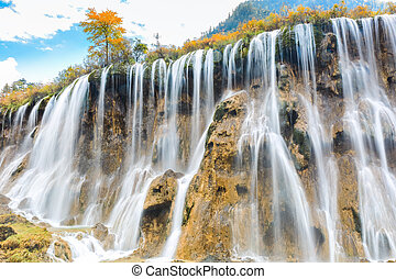 beautiful nuorilang waterfall in autumn