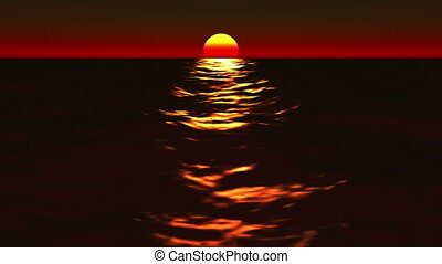 Beautiful Ocean Sunrise & Sunset Lo