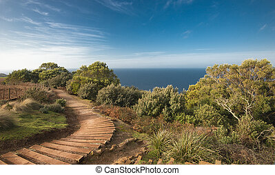 Beautiful ocean view from the Table Cape in Tasmania. -...