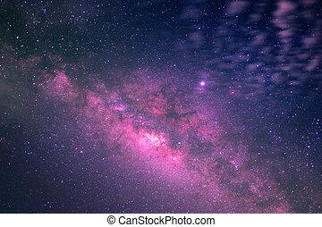 beautiful of milky way in night sky
