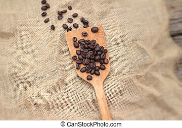 Beautiful of roasted coffee beans.