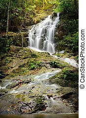 Beautiful nature of Ton Sai Waterfall at Phuket province Thailand.