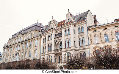 Beautiful old architecture in Lviv