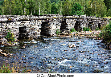 beautiful old bridge over the river