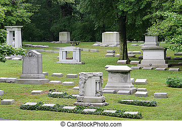 Beautiful Old Cemetary 1 - Gravestones at historic Cave Hill...