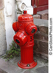 beautiful old fire hydrant red
