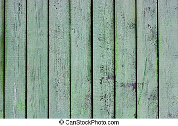 Beautiful old green wooden background close up