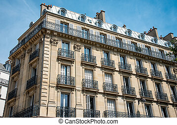 Beautiful old house seen in Paris