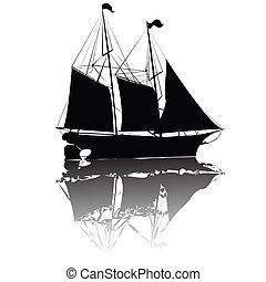 beautiful old ship
