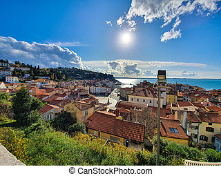 Beautiful old Slovenian town Piran - Beautiful old Slovenian...