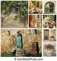 beautiful old tuscan country house collage