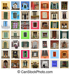 beautiful old windows collage