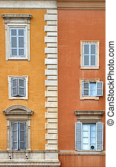 Beautiful old windows in Rome (Italy)