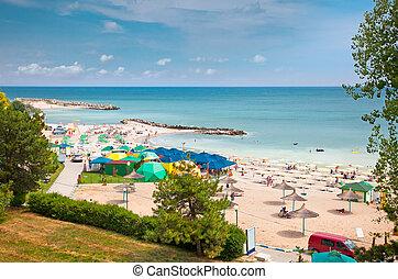 Beautiful Olimp beach in summer, Romania. Olimp is popular...