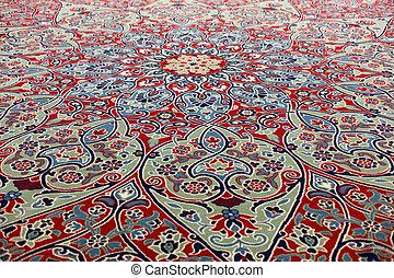 Beautiful oriental carpet in a mosque, Istanbul Turkey