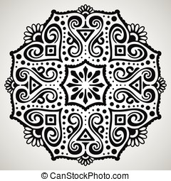 Beautiful ornament on white background
