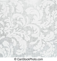 Beautiful ornament Seamless background of grey color in the style of baroque