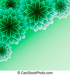 Beautiful ornamental background with flowers
