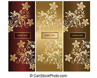 Beautiful ornaments with flowers an
