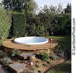 Beautiful outdoor jacuzzi