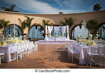 Beautiful outdoor wedding venue - Image of a beautifully...