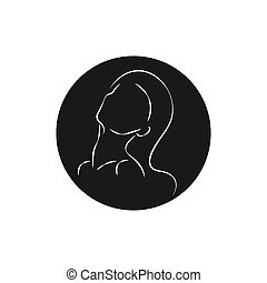 abstract line portrait of beautiful girl