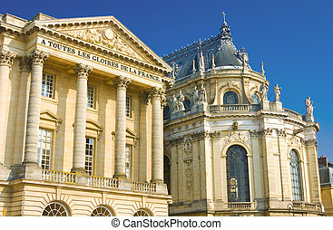 Beautiful palace facade in Versailles
