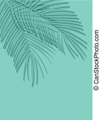 Beautiful Palm Leaf Background. Vector Illustration