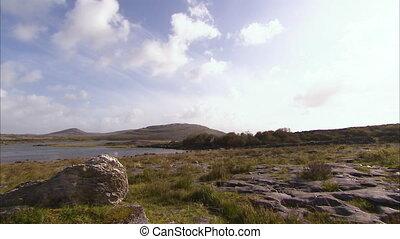 Beautiful panning shot of dreamlike Irish land - Beautiful...