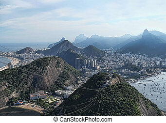 beautiful panorama from the city of rio de janeiro