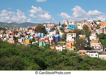 beautiful panorama of Guanajuato in Mexico