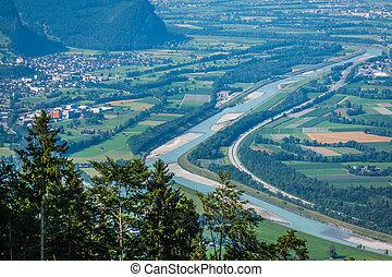 beautiful panorama of Liechtenstein