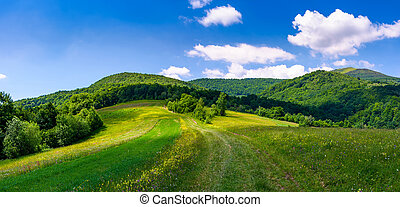 beautiful panorama of mountainous countryside. lovely summer...