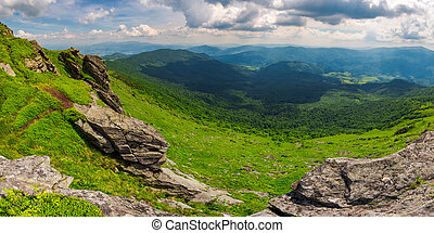 beautiful panorama of mountainous landscape. view from the...