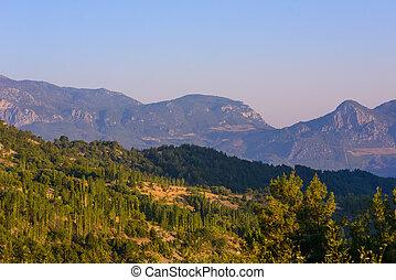 Beautiful panoramic mountain landscape