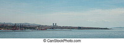 Beautiful panoramic view of Istanbul on a Sunny day