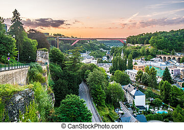 Luxembourg - Beautiful panoramic view of Luxembourg city