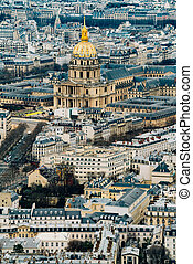 Beautiful panoramic view of Paris