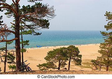 beach at lake Baikal