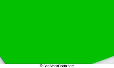 Beautiful Paper Sheets Tearing from the Center Opening the Screen Transition. Two Versions. 3d Animation of Abstract Paper Breaking Through on Green Screen Alpha Mask. 4k Ultra HD 3840x2160.