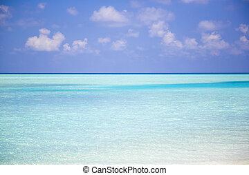 Beautiful Paradisiacal Beach in Maldives