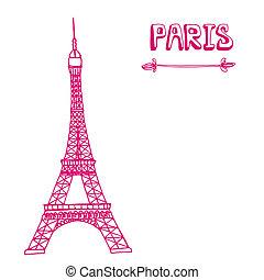 Beautiful Paris illustration. Perfe