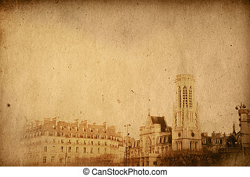 beautiful Parisian streets - with space for text or image